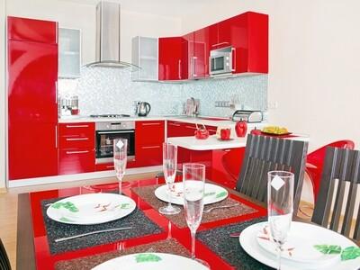 Кухня   Пластик   Lemark   Красный
