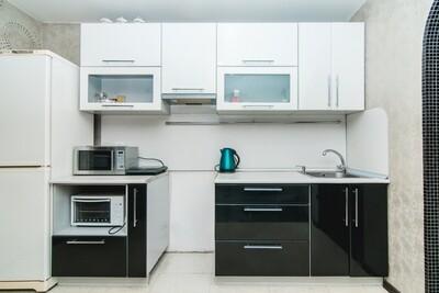 Кухня | Пленка | Глянец | Черный белый