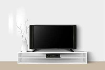 TV-консоль | Белый минимализм