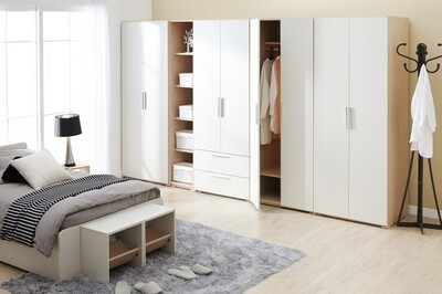 Шкаф | Распашной | Белый