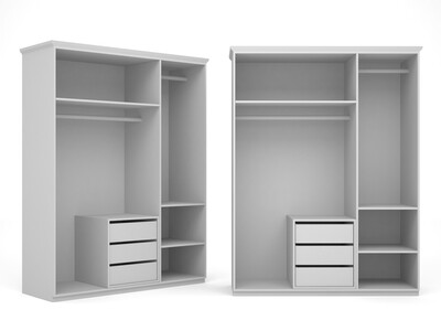 Корпус-шкафа для 2-х дверей комбинированный