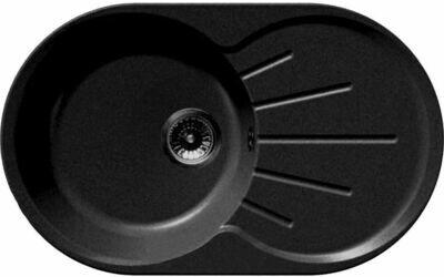 Кухонная мойка Granfest Rondo GF-R-750L чаша с крылом 750*460мм черный