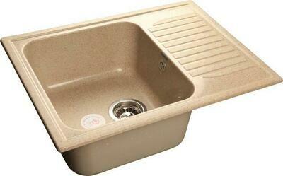 Кухонная мойка Granfest Standart GF-S645L, Песочный, с крылом, разм. 645х500