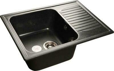 Кухонная мойка Granfest Standart GF-S645L, Черный, с крылом, разм. 645х500