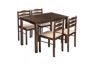 Starter (стол и 4 стула) oak / beige