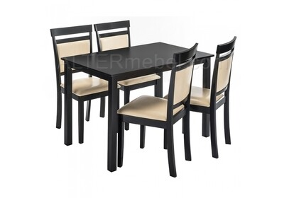 Modis (стол и 4 стула) cappuccino / cream