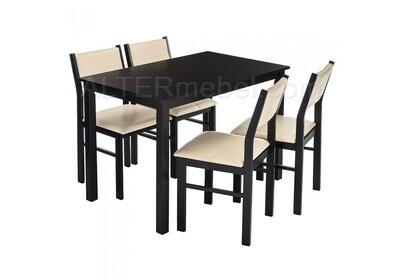 Bahamas (стол и 4 стула) cappuccino / cream