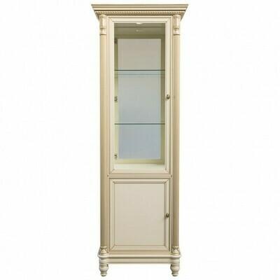 витрина 1створчатая со стеклянными боковинами с зеркалом и подсветкой (левая)