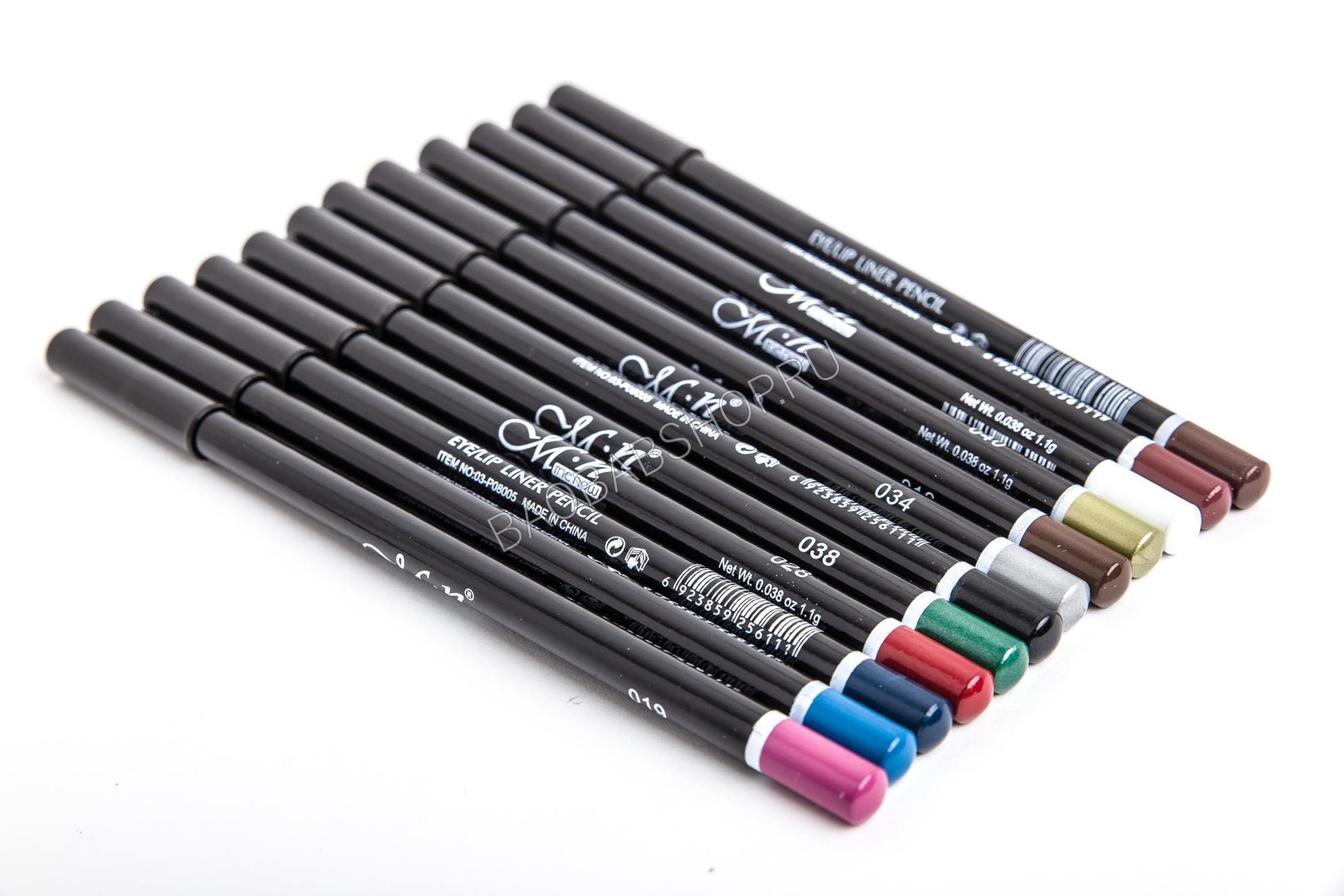 Набор карандашей для глаз 12 шт.