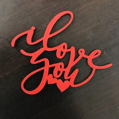 Топпер «Love You»