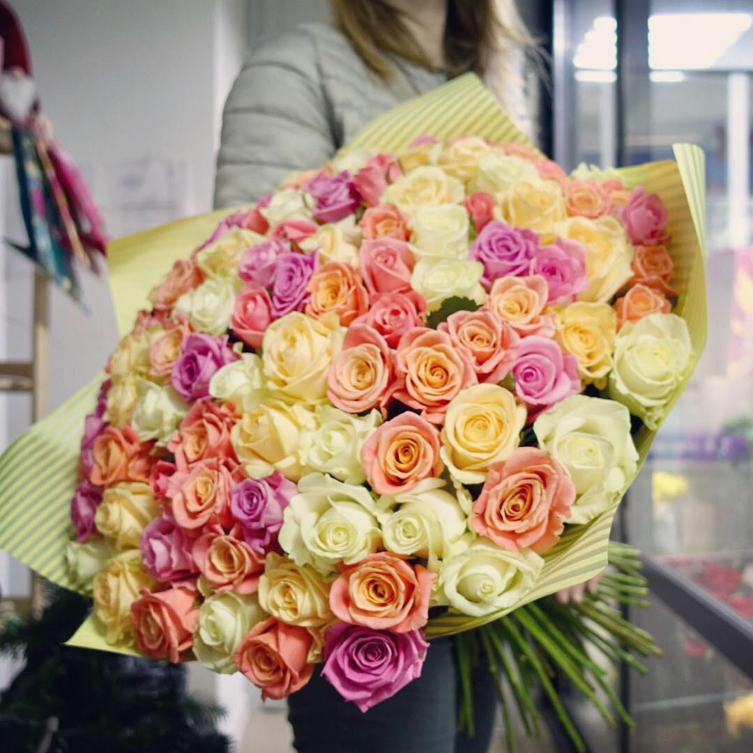 101 роза «Трепет»