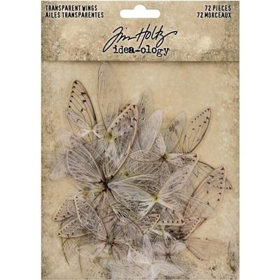 PRE-ORDER Tim Holtz Idea-Ology Transparent Acetate Wings 72/Pkg