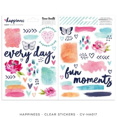 PREORDER Cocoa Vanilla Happiness Clear Stickers