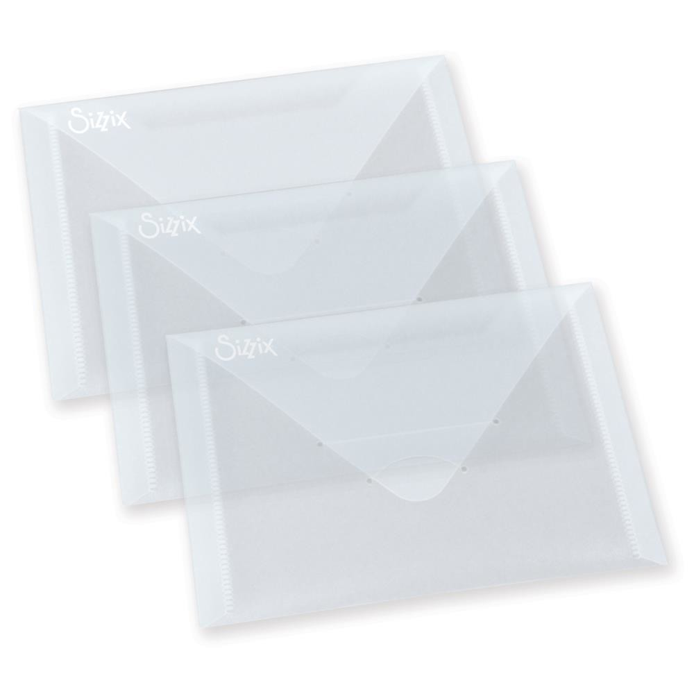 "Sizzix 6 7/8""X5"" Storage Envelopes 3/Pkg"