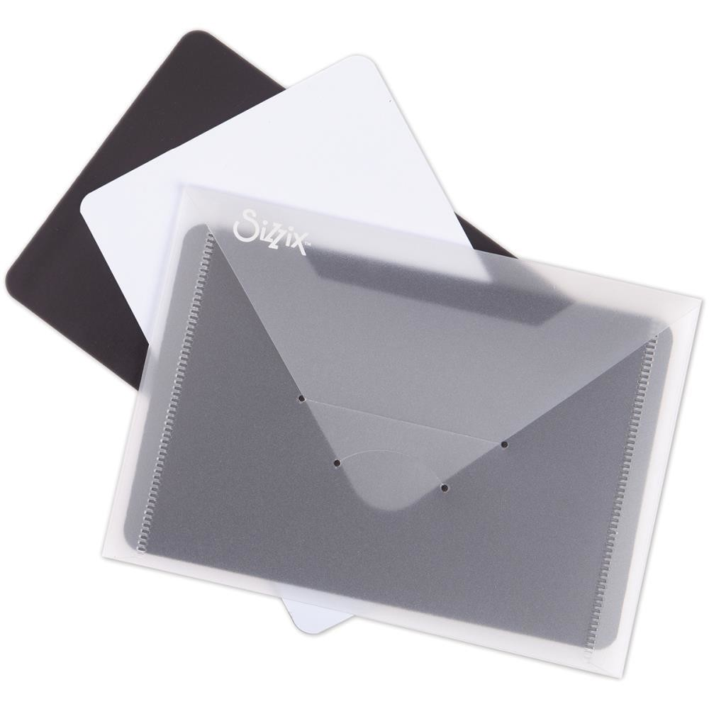 "Sizzix 6 7/8""X5"" Storage Envelopes 3/Pkg with Magnets"
