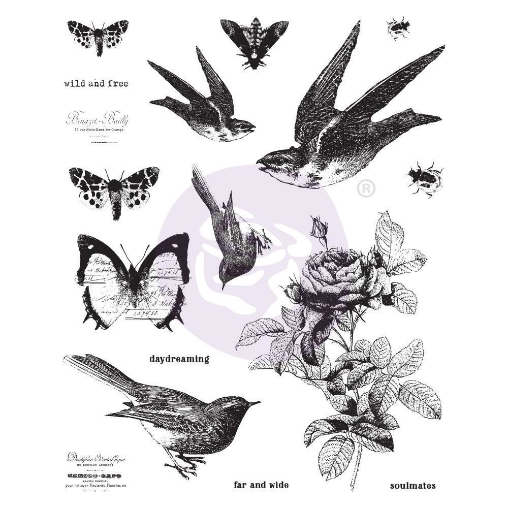 "Finnabair Cling Stamps 6""X7.5"" Wild and Free"