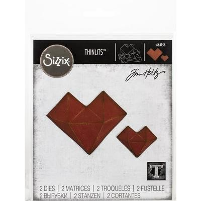 Tim Holtz Sizzix Thinlits Faceted Heart