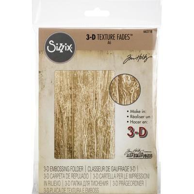 Tim Holtz Sizzix 3-D Texture Fades Lumber