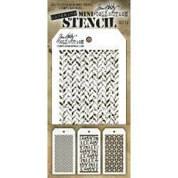 Tim Holtz Layering Stencil Mini Set of 3