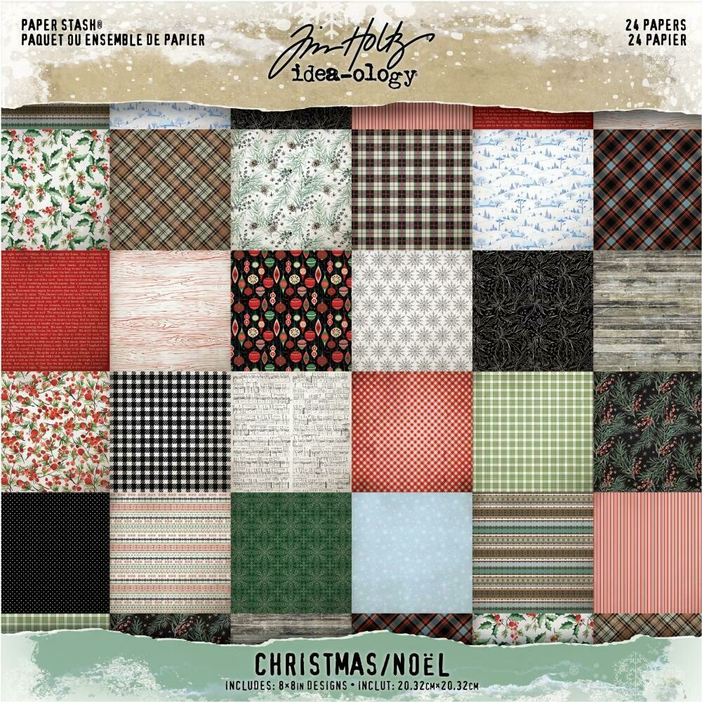 Tim Holtz Idea-Ology Paper Stash Christmas Noel 8x8