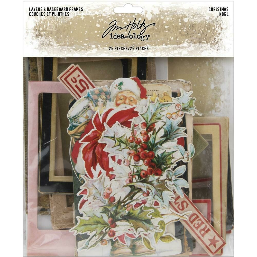 Tim Holtz Idea-Ology Layers and Baseboards Christmas