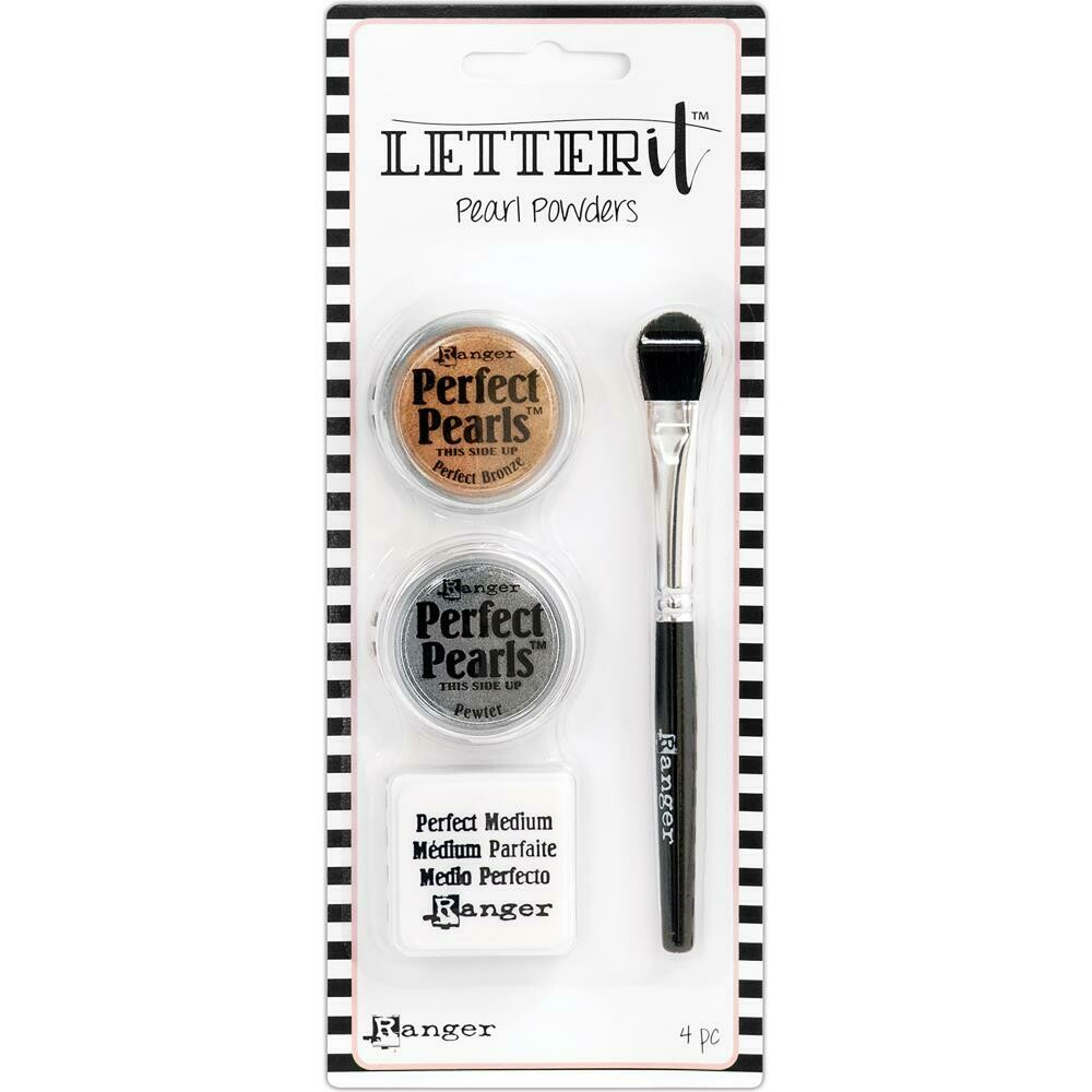 Ranger Letter it Perfect Pearls Pigment Powder set 3