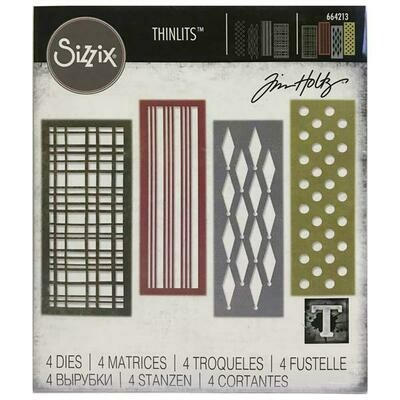 Tim Holtz Sizzix Thinlits Dies Festive Repeat