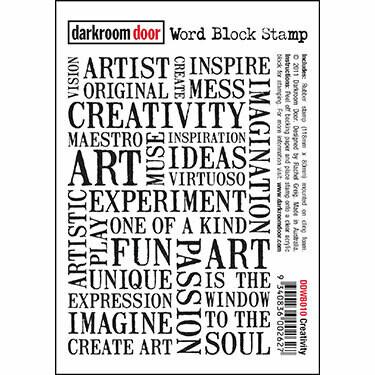 Darkroom Door Word Block Stamps Assorted