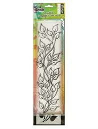 "Dyan Reaveley's Dylusions Clear Stamp & Stencil Set 12"" Leaf Border"