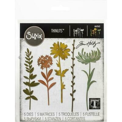 Tim Holtz Sizzix Thinlits Dies Wildflower Stems #1