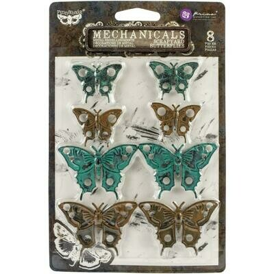 Finnabair Mechanicals Metal Embellishments Scrapyard Butterflies
