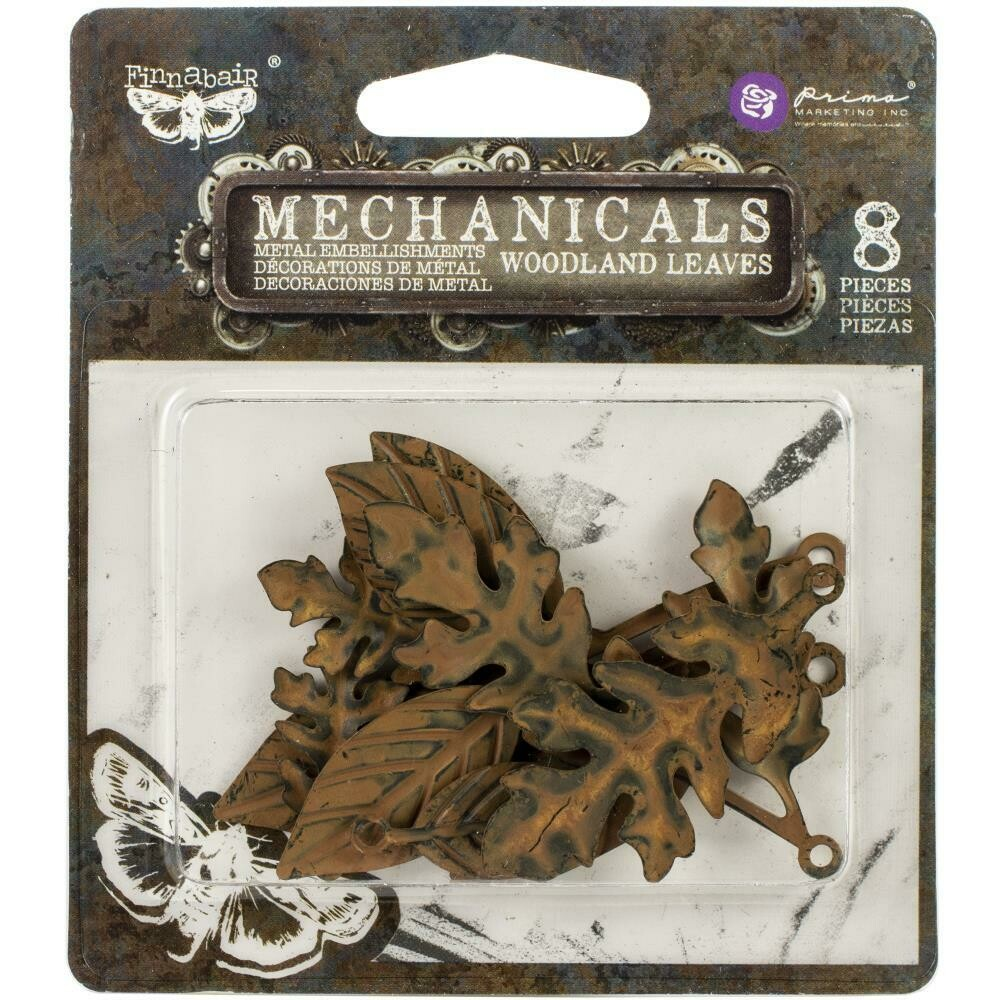 Finnabair Mechanicals Metal Embellishments Woodland Leaves