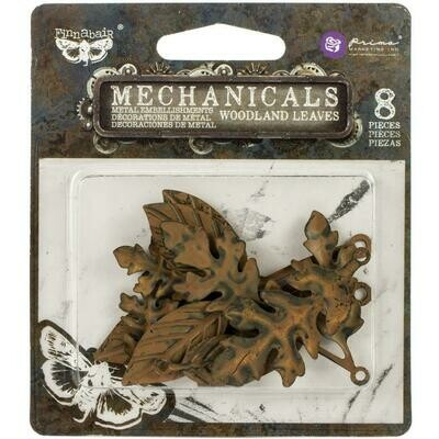 Finnabair Mechanicals Metal Embellishments Woodland Leaves