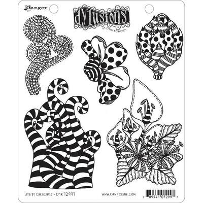 PREORDER Dyan Reaveley's Dylusions Cling Stamp Stripy Curlicues