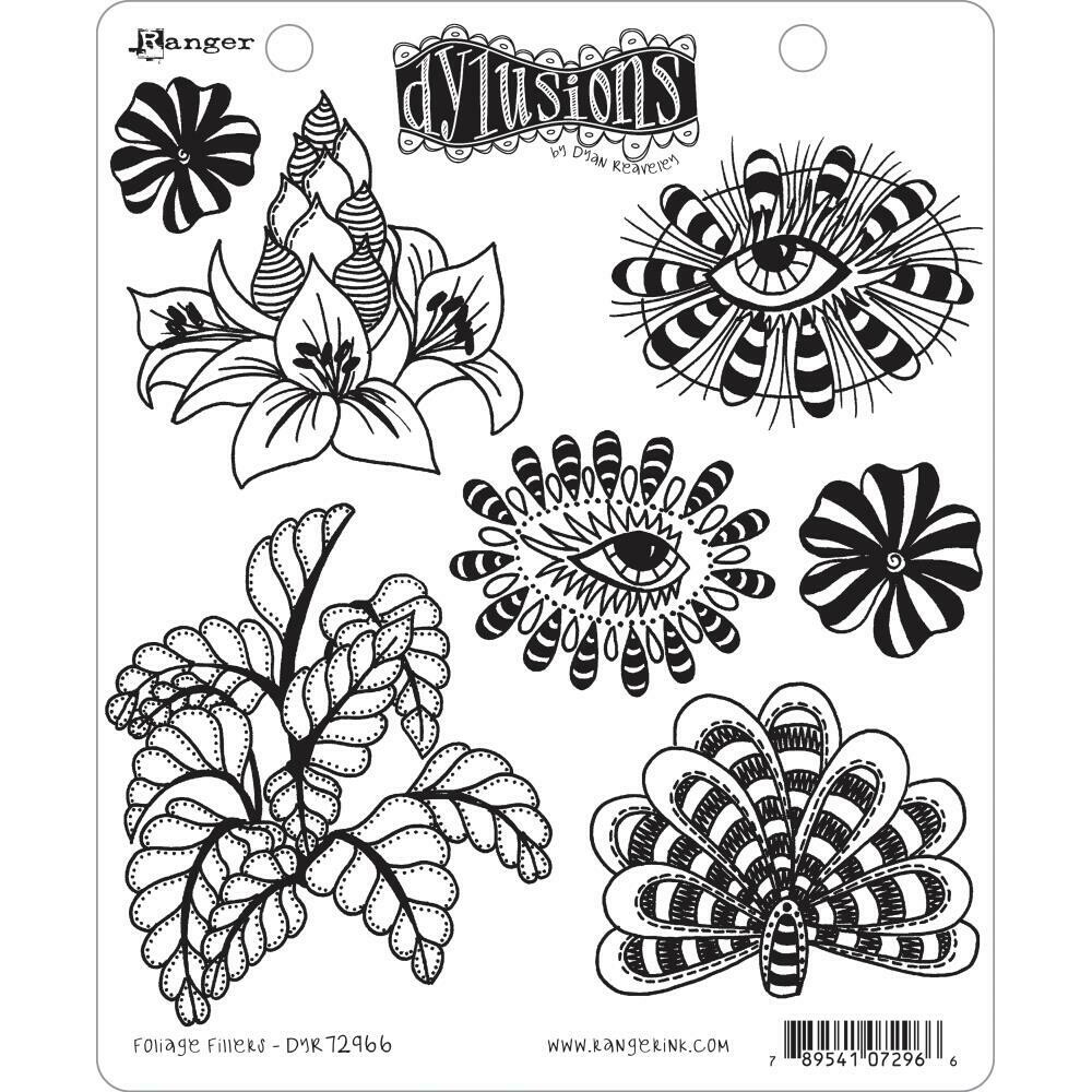 PREORDER Dyan Reaveley's Dylusions Cling Stamp Foliage Fillers
