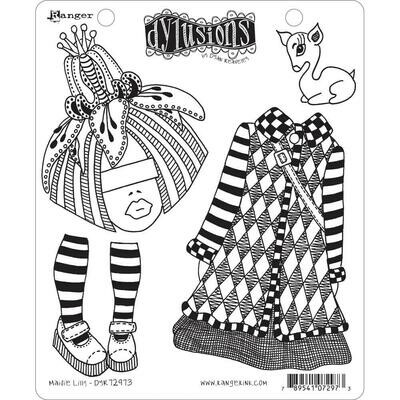 PREORDER Dyan Reaveley's Dylusions Cling Stamp Maisie Lilly