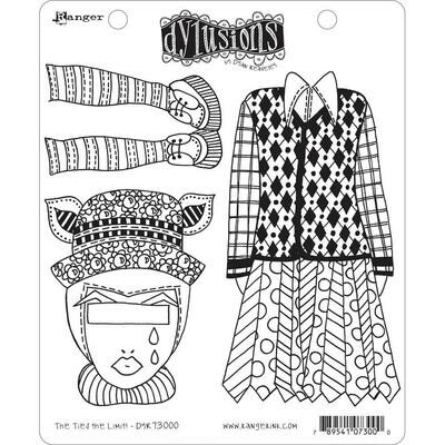 PREORDER Dyan Reaveley's Dylusions Cling Stamp The Ties The Limit!