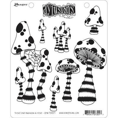 PREORDER Dyan Reaveley's Dylusions Cling Stamp There's No Mushroom In Here!