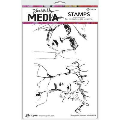 PREORDER Dina Wakley Media Cling Stamps Thoughtful Women