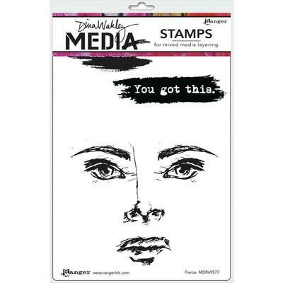 PREORDER Dina Wakley Media Cling Stamps Fierce