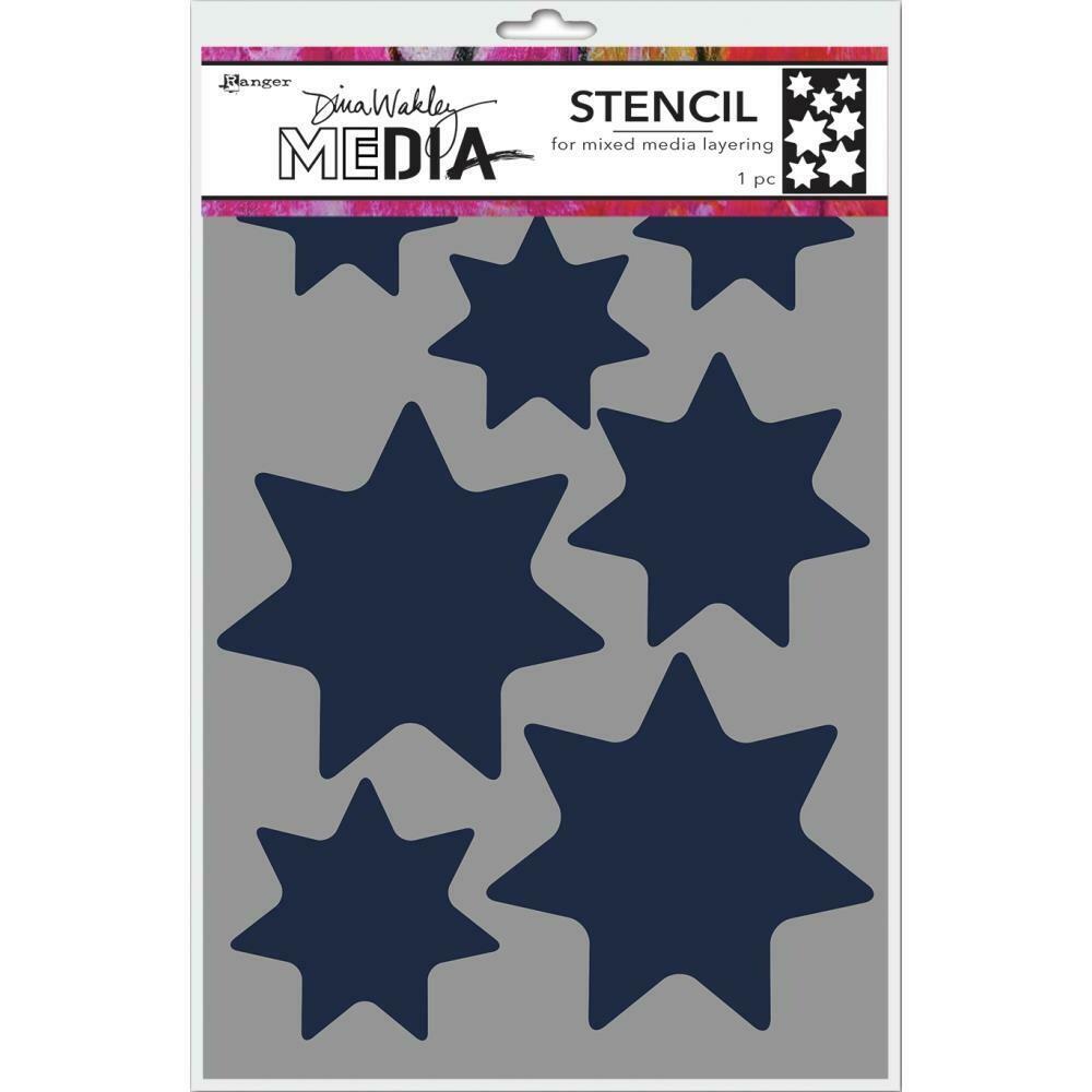 "PREORDER Dina Wakley Media Stencils 9""X6"" Giant Stars"