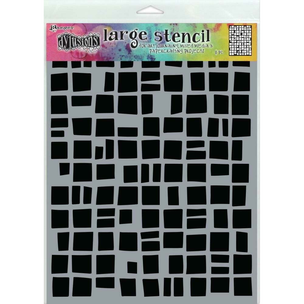 """PREORDER Dyan Reaveley's Dylusions Stencils 9""""X12"""" Betsy's Block"""