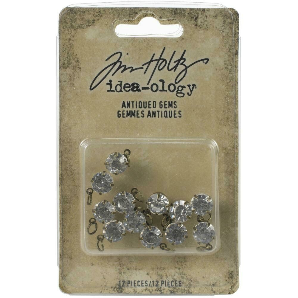 PREORDER Tim Holtz Idea-Ology Metal Adornments Antiqued Gems