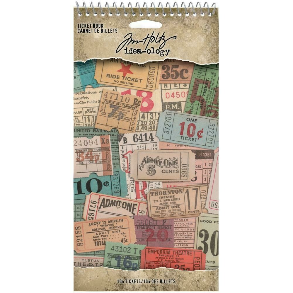 PREORDER Tim Holtz Idea-Ology Stickers Ticket Book
