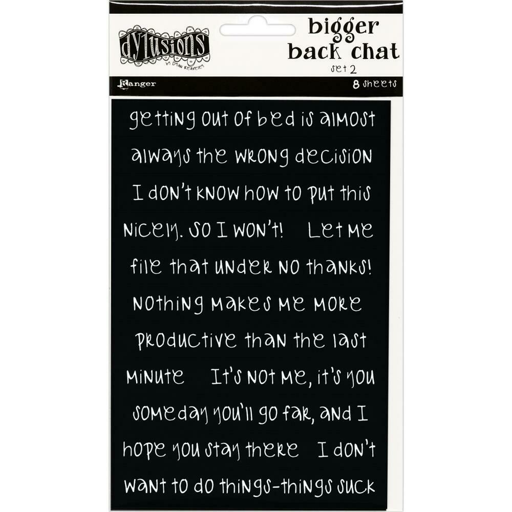 PREORDER Dyan Reaveley's Dylusions Bigger Back Chat Stickers Black Set #2