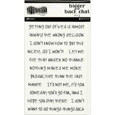 PREORDER Dyan Reaveley's Dylusions Bigger Back Chat Stickers White Set #2