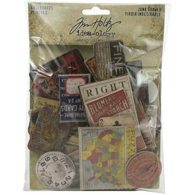 PREORDER Tim Holtz Idea-Ology Chipboard Baseboards Junk Drawer