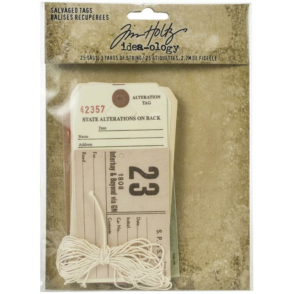 PREORDER Tim Holtz Idea-Ology Salvaged Tags