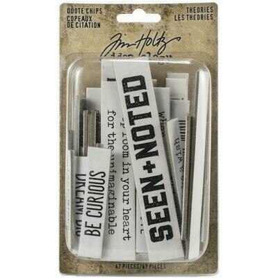 PREORDER Tim Holtz Idea-Ology Chipboard Quote Chips Theories