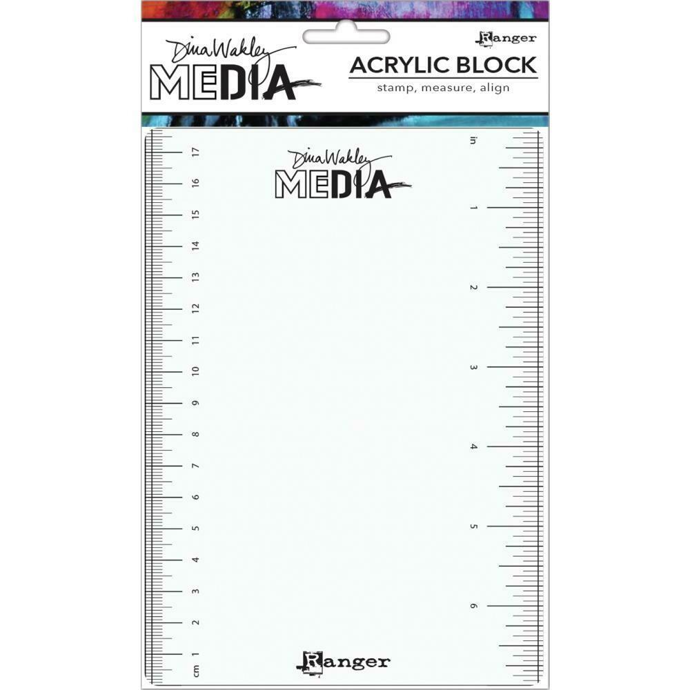 "PREORDER Dina Wakley Meida Stamping Block 5""X7"""